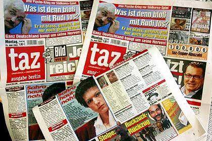 """Die """"taz"""" im """"Bild""""-Layout: Die beiden Blätter symbolisieren den alten Klassenkampf"""