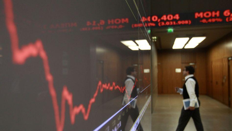Griechische Börse (Archivbild): Neue Sorgen um Reformpaket