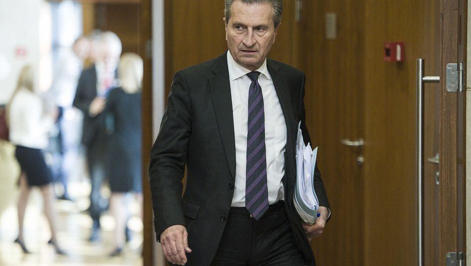 EU-Haushaltskommissar Günther Oettinger (Archiv)