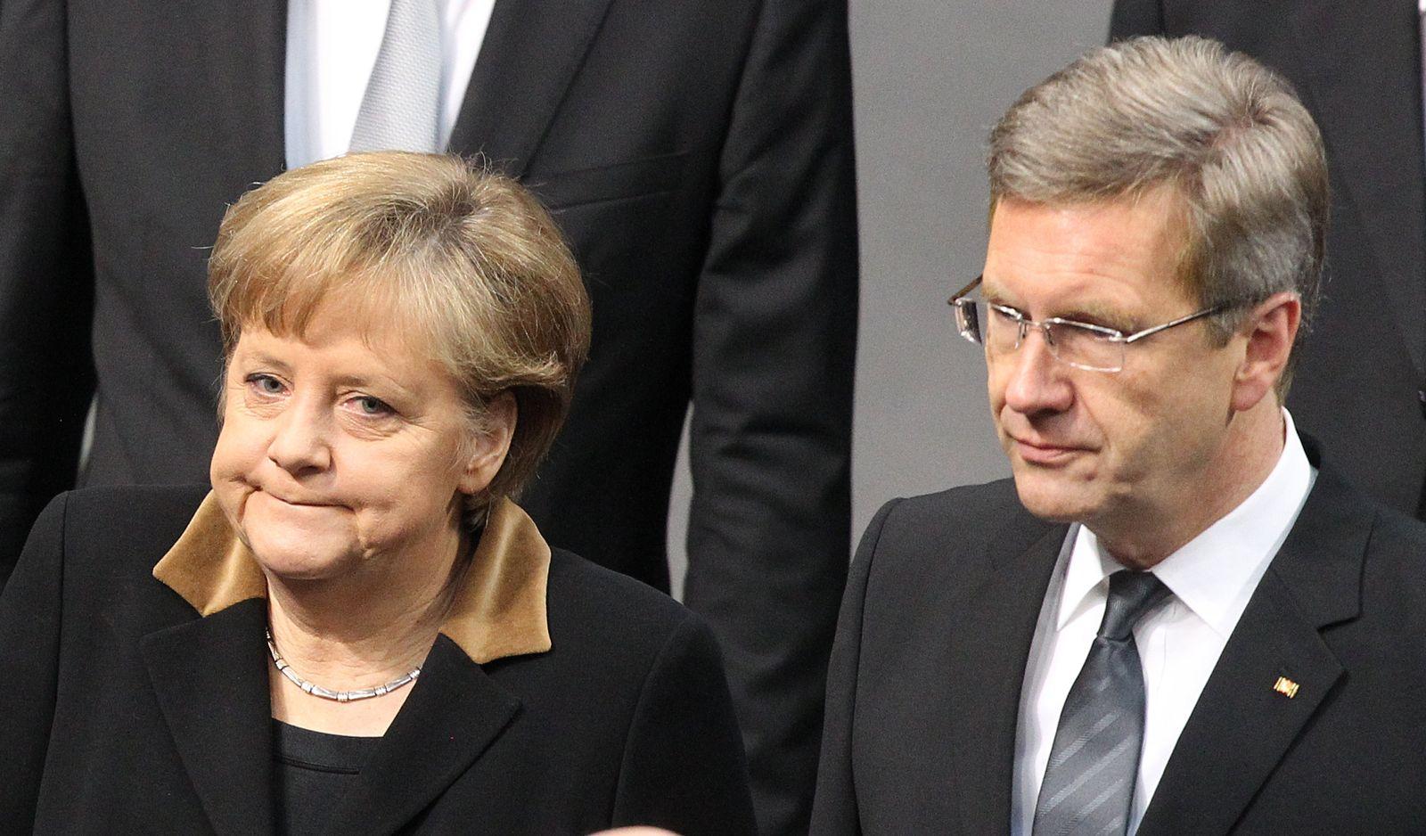 Merkel Wulff Gedenkstunde im Bundestag