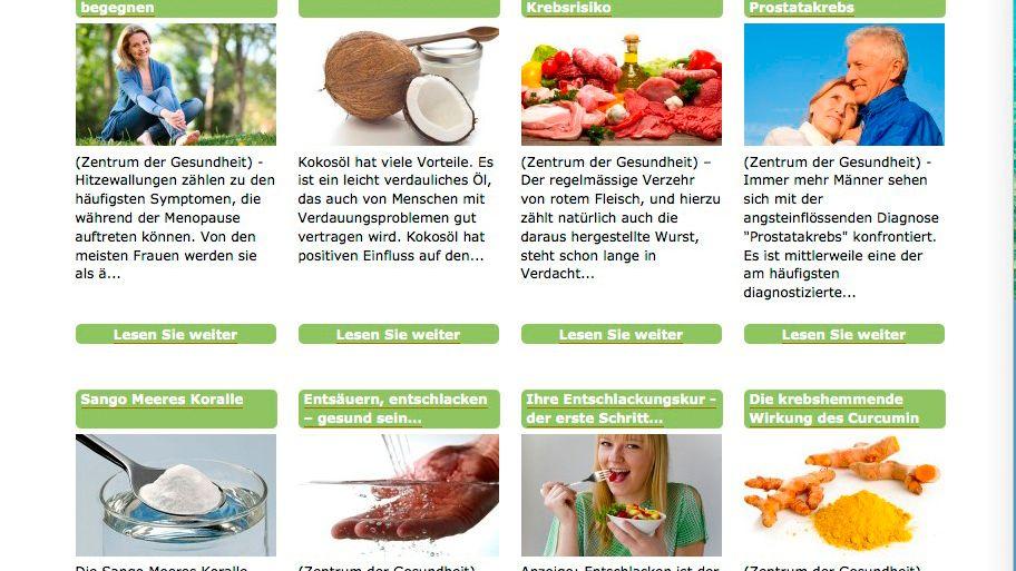 Von der VZHH kritisierte Website: Versteckte Verkaufsinteressen