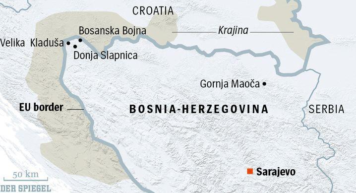 Map: Islamist extremism on the EU border.