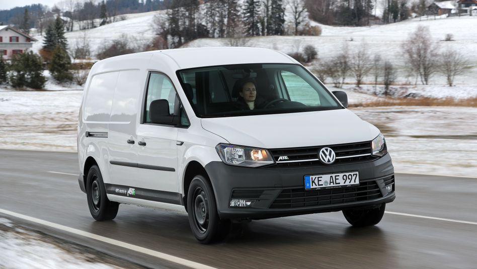 Jetzt auch elektrisch unterwegs: Der VW Caddy, umgebaut vom Tuner Abt.