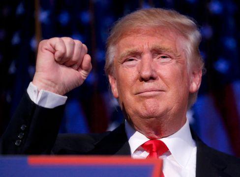 Donald Trump in der Wahlnacht 2016