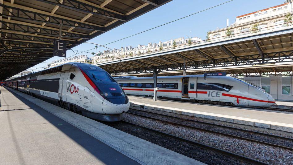 Die TGV der französischen Staatsbahn könnten sich bald stärker füllen - auf einigen Strecken fällt Air France als Konkurrent womöglich weg
