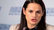 Oppositionsführerin Tichanowskaja dankt EU-Parlament