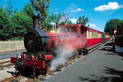 Seit 1873 verkehrt die Dampfeisenbahn zwischen Port Erin im Süden und Douglas an der Ostküste der Isle of Man