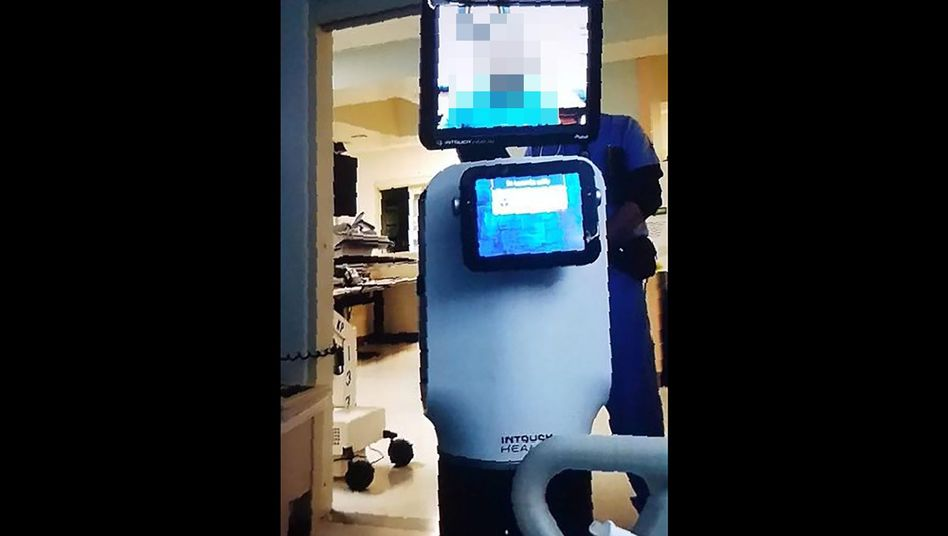 Dieses Bild machte die Enkelin des Patienten mit ihrem Smartphone