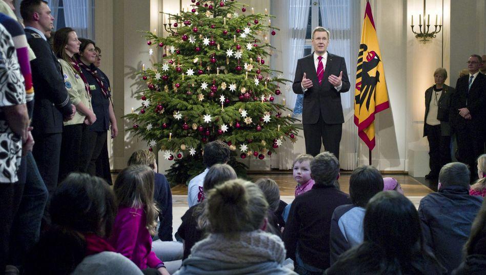 Bundespräsident Wulff bei seiner Weihnachtsansprache: Appell für soziales Engagement