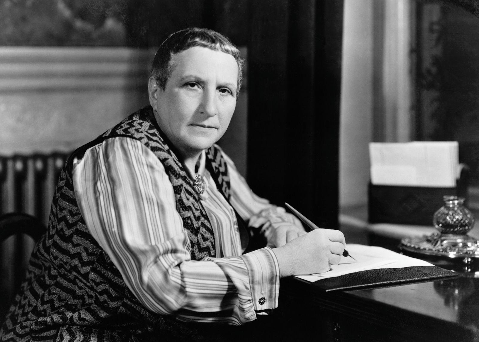 Gertrude Stein at Her Desk, ca. 1936