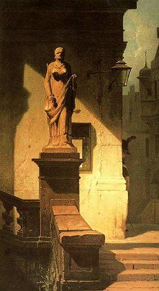 """Carl Spitzweg's painting """"Fiat Justitia"""" is being returned to the heirs of its pre-World War II owner."""