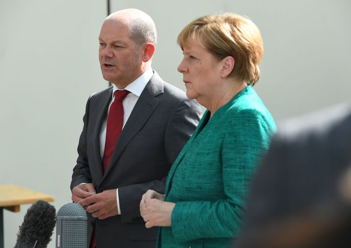 Olaf Scholz, Angela Merkel am 8. Juli 2017 in Hamburg