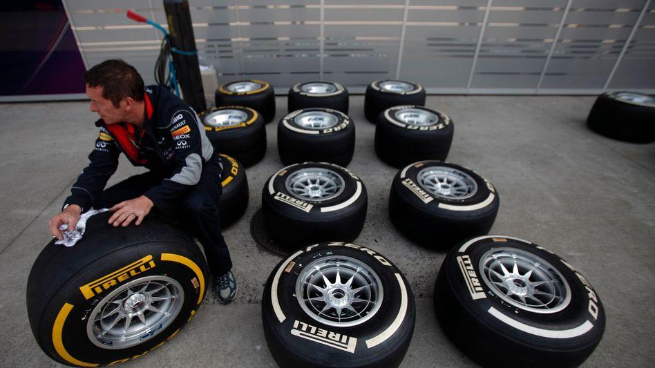 Pirelli-Reifen beim Grand Prix in Shanghai: Neue harte Reifen