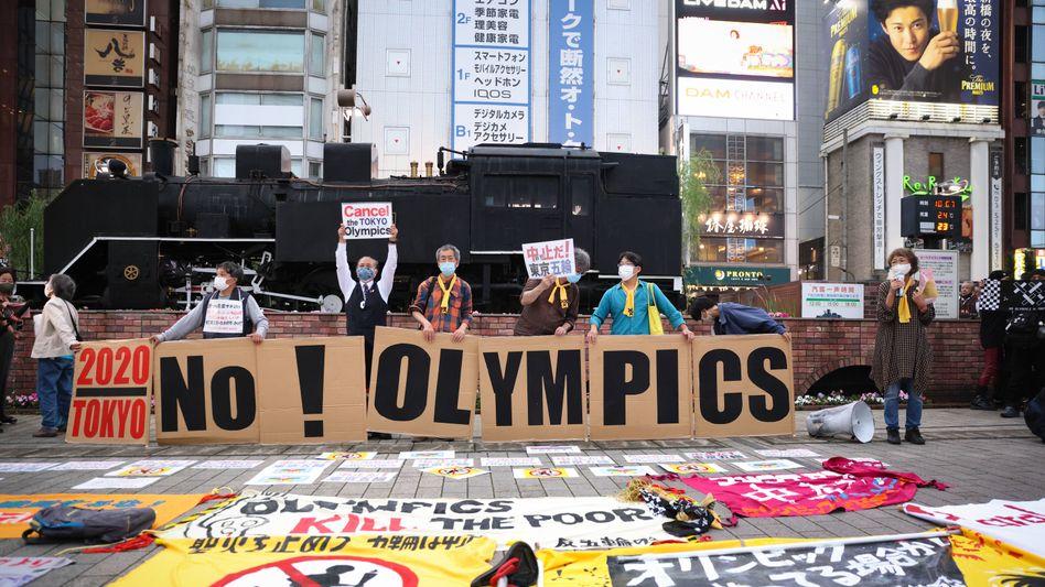Kein Olympia in diesem Jahr in Japan: So die Botschaft vieler Menschen aus Tokio
