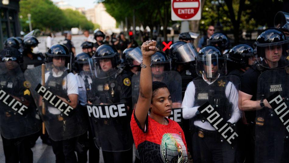 Protest gegen Polizeigewalt und Rassismus in Washington