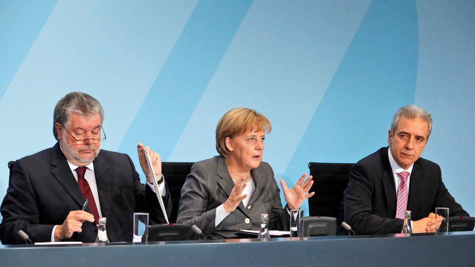 Angela Merkel, Stanislaw Tillich: Forderung nach mehr CDU-Profil in der Regierung