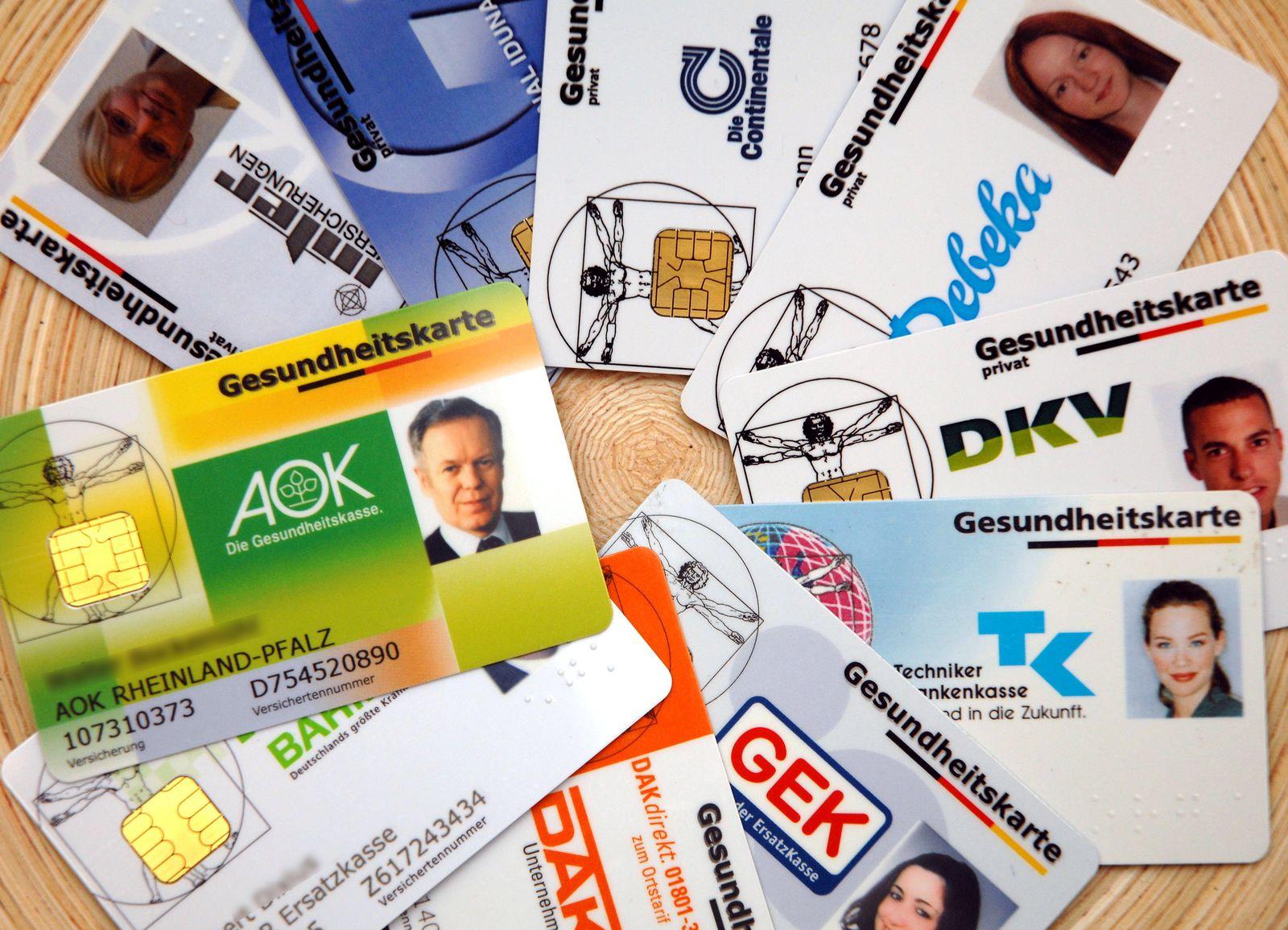 Krankenversicherung / Krankenkassen / Versicherten-Karten