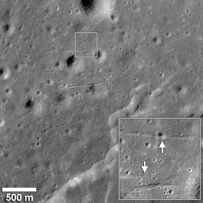 EINMALIGE VERWENDUNG Mond / Tektonik / WISSENSCHAFT
