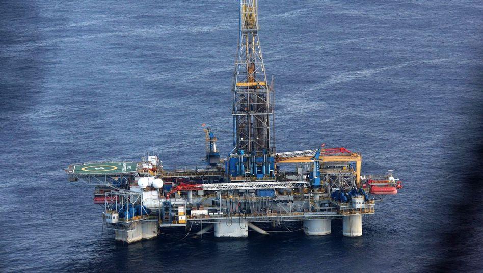 Ölbohrplattform vor Zypern (Archivbild)