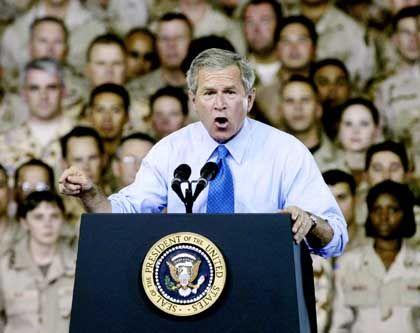 Gefeiert in Katar: Bush