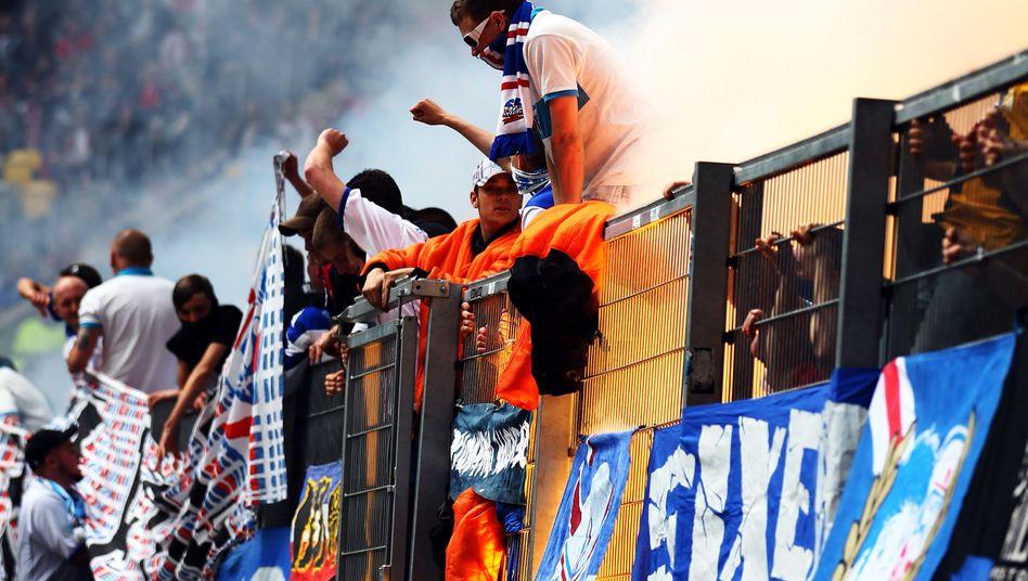 Rostock-Fans: Zwei Spiele Auswärtsverbot