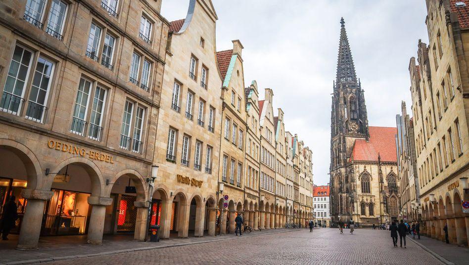 Deutschlands Einzelhandel und Gastronomie bleibt vorerst geschlossen – wie hier in Münster