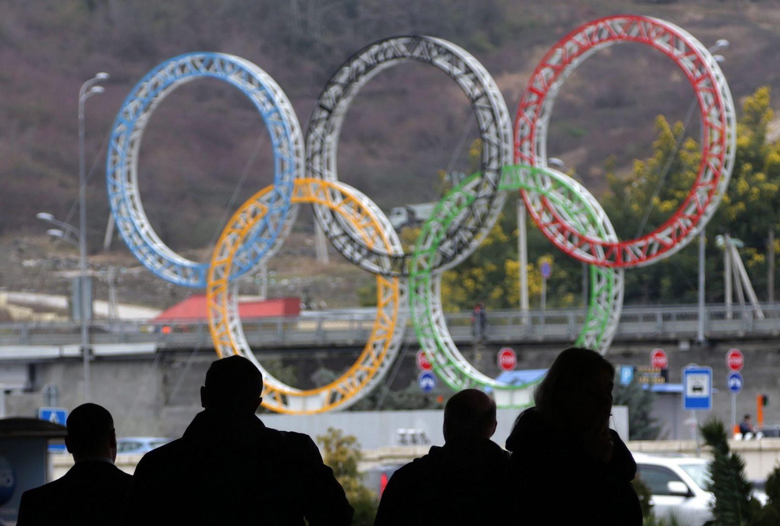 Olympische Ringe Sotschi