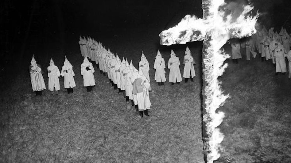 A KKK rally in Tampa, Florida in 1939