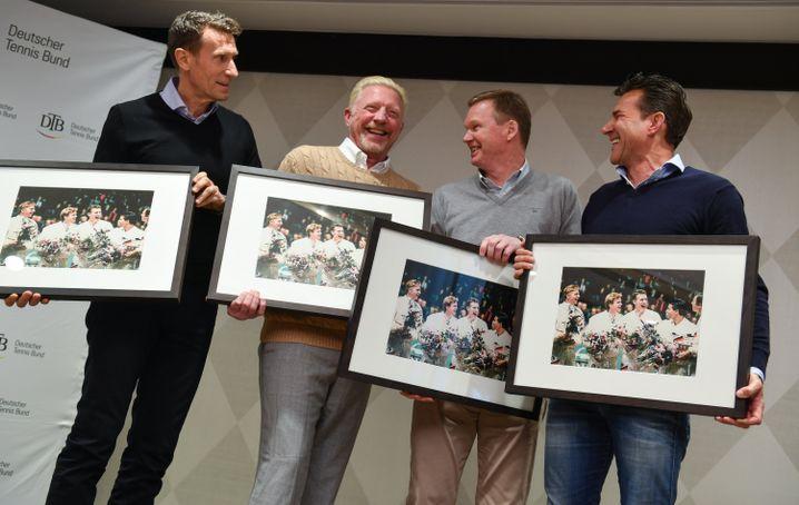 Patrick Kühnen, Boris Becker, Eric Jelen, Carl-Uwe Steeb