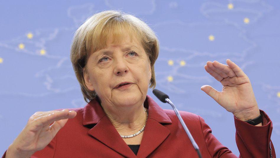 Kanzlerin Merkel: Auf der Seite der Abwiegler