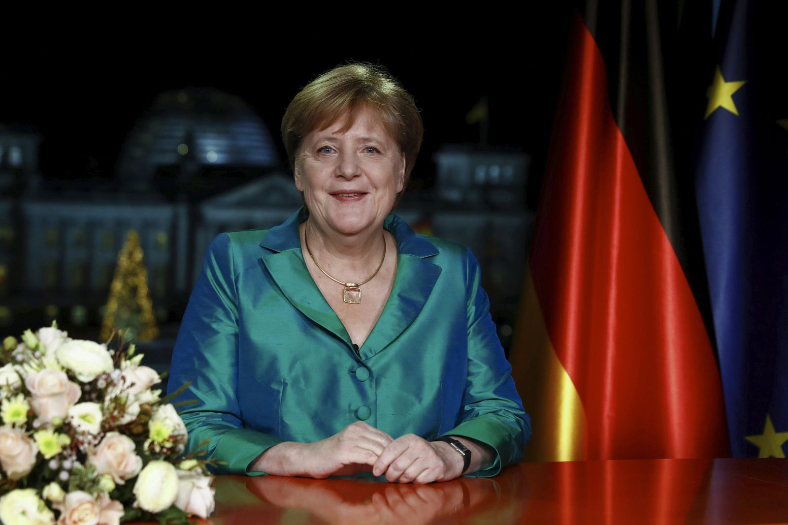 Germany Merkel New Year
