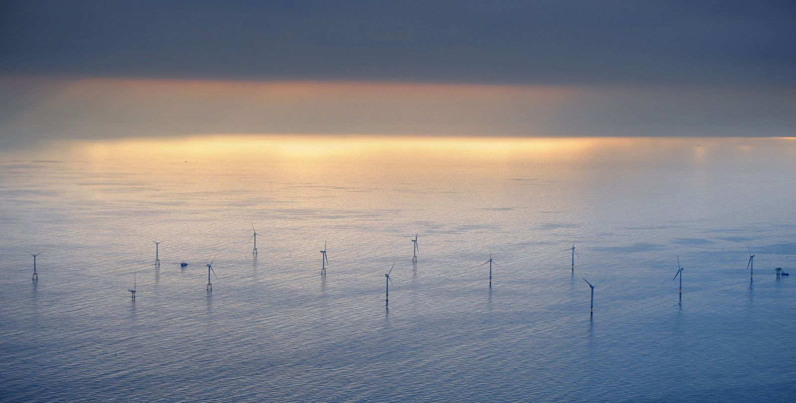 Windpark vor Borkum