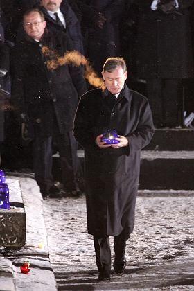 Bundespräsident Köhler bei der Gedenkfeier des ehemaligen Vernichtungslagers Auschwitz: Deutschlands moralische Verantwortung für Israel