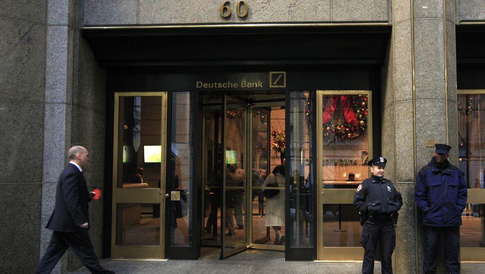 Deutsche Bank in New York (Archivbild): Rechtsstreitigkeiten mit den Behörden
