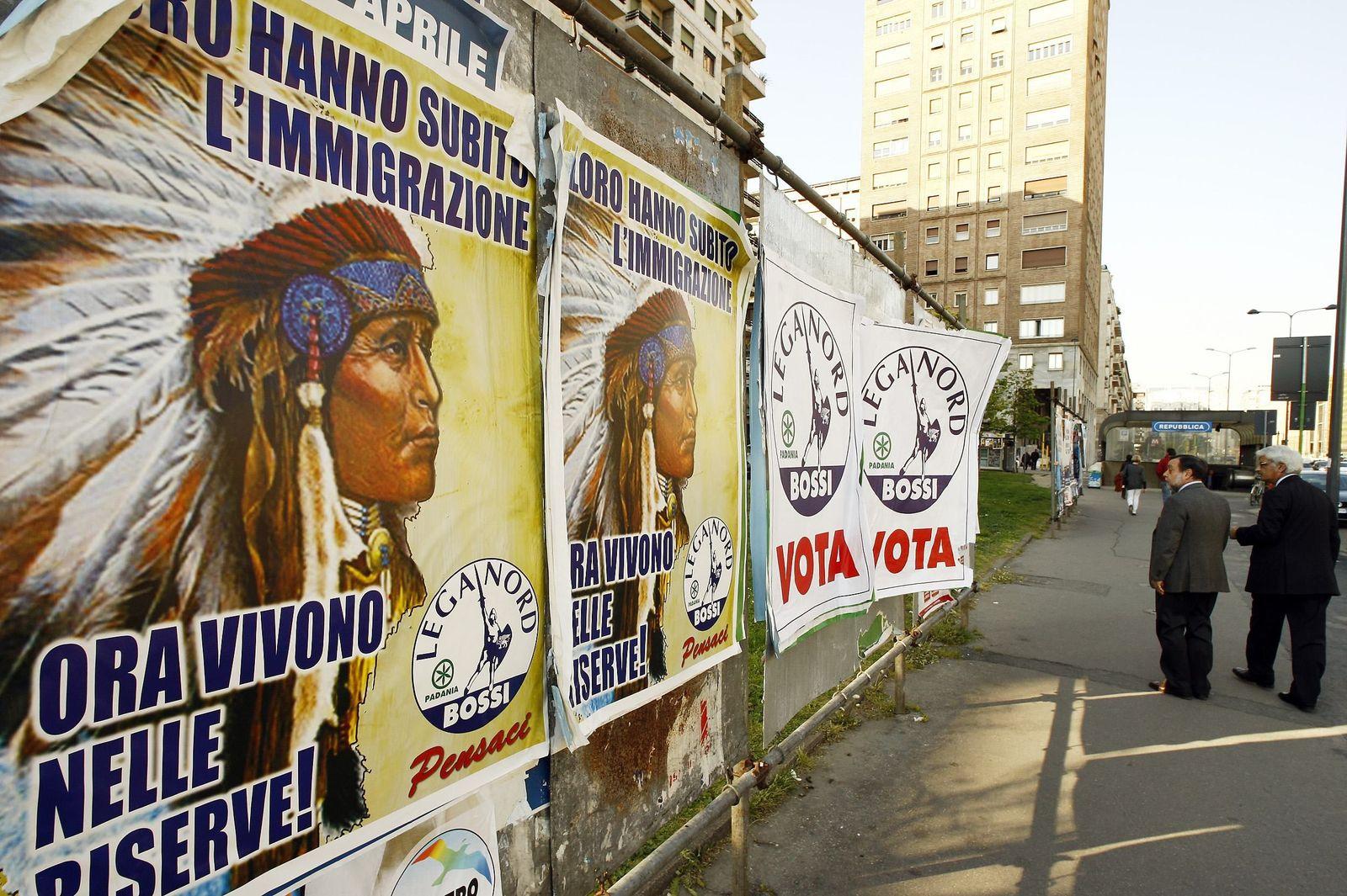 Lega Nord/ Plakat