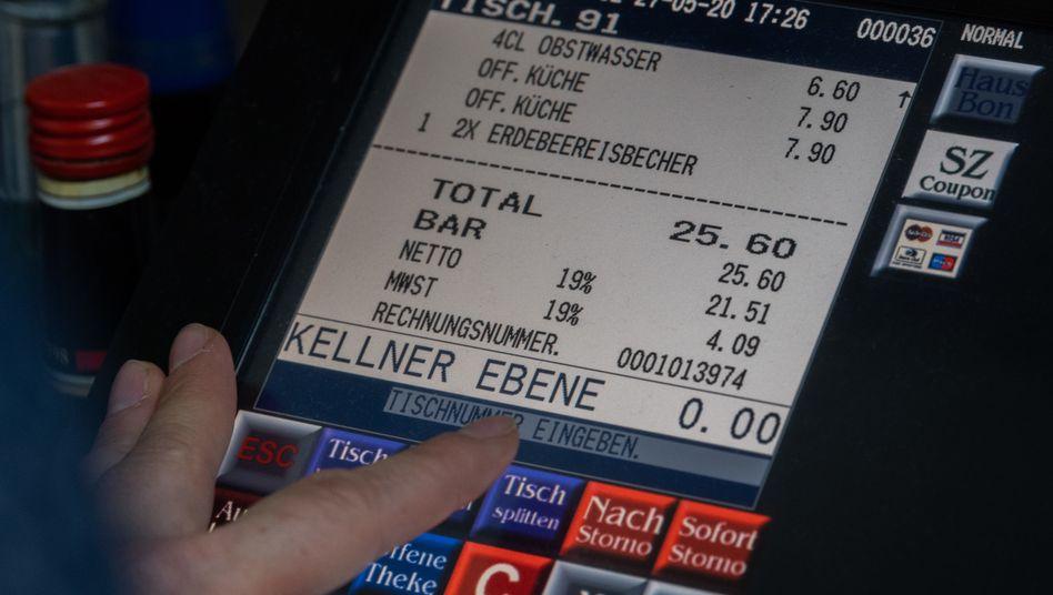 Kasse im Gastgewerbe mit Mehrwertsteuer-Ausweis