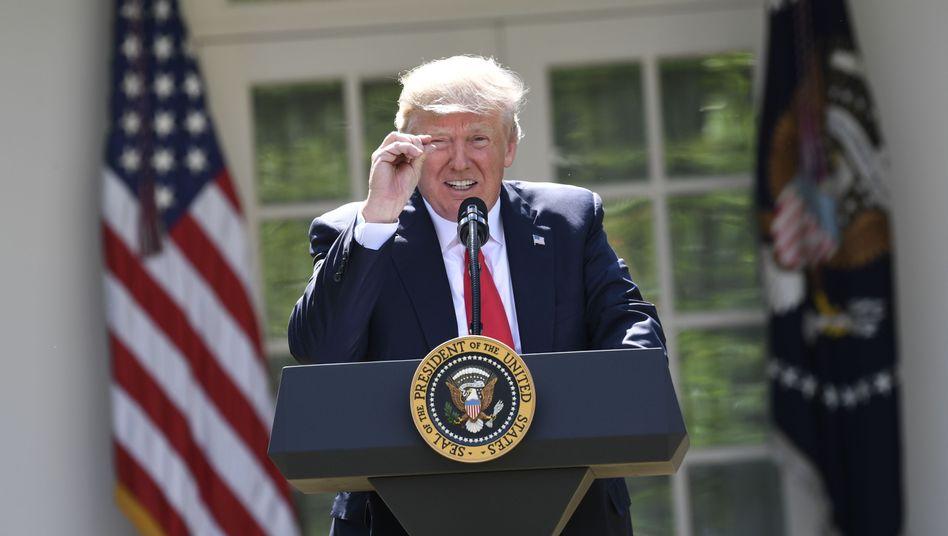 Trump bei Verkündung des Ausstiegs aus Pariser Klimavertrag (Juni 2017)