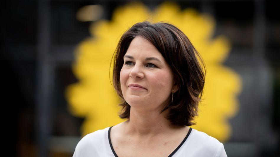 Annalena Baerbock vor dem Grünen-Parteitag am vergangenen Wochenende