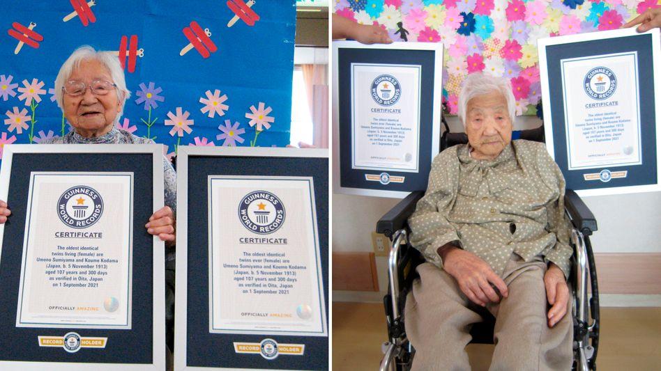 Die Schwestern Umeno Sumiyama und Koume Kodama leben in unterschiedlichen Altersheimen