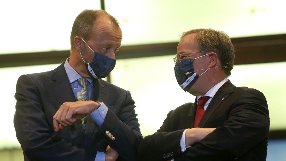Konkurrenten um den CDU-Vorsitz: Friedrich Merz (l) und Armin Laschet