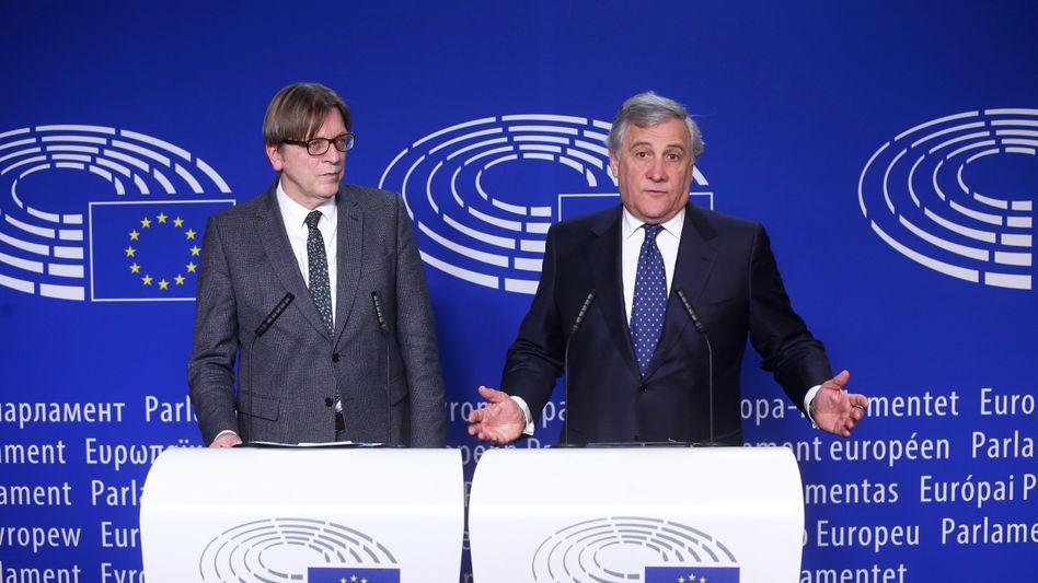 Guy Verhofstadt und Antonio Tajani