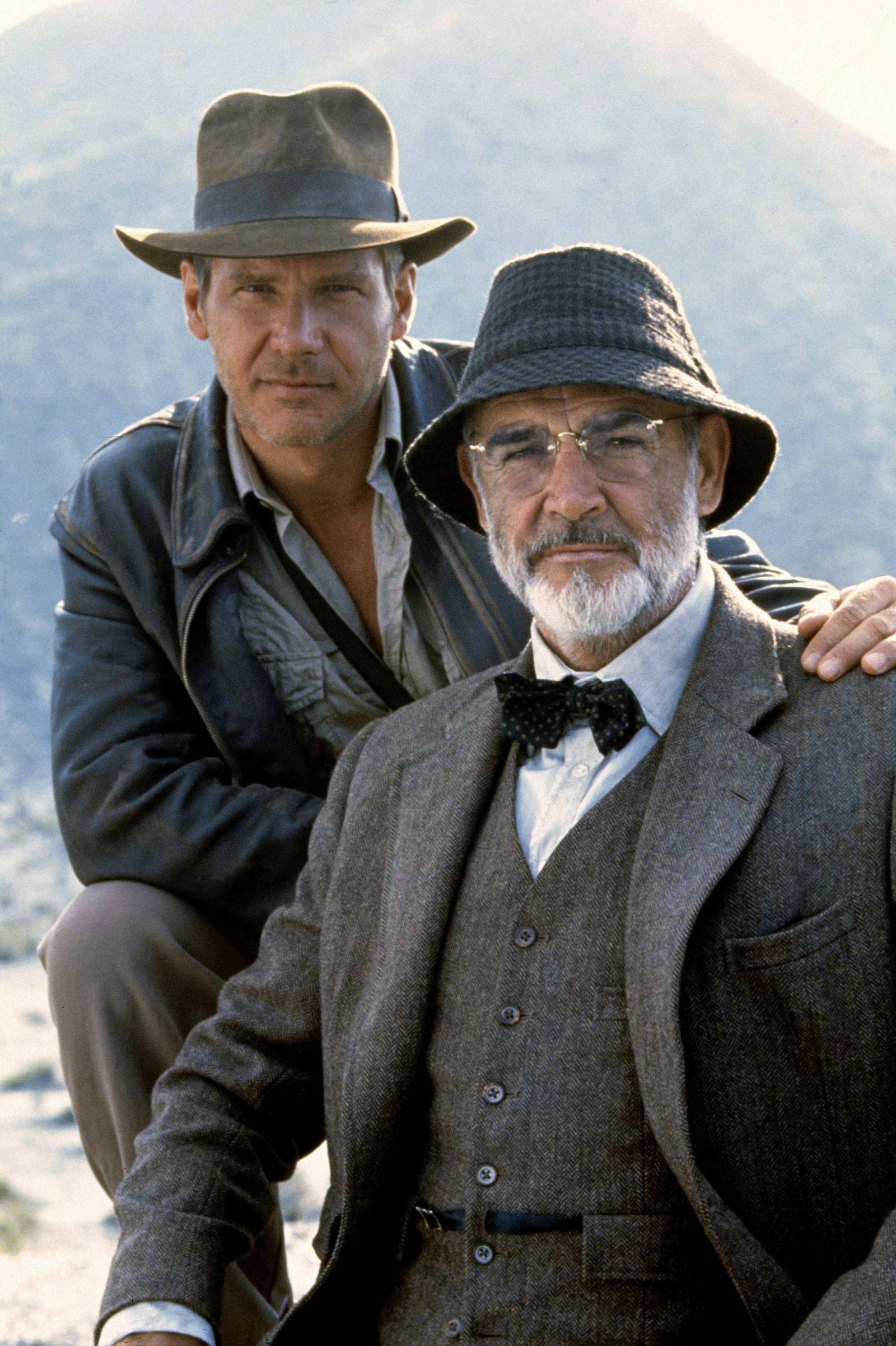 Harrison Ford & Sean Connery Characters: Indiana Jones, Professor Henry Jones Film: Indiana Jones And The Last Crusade