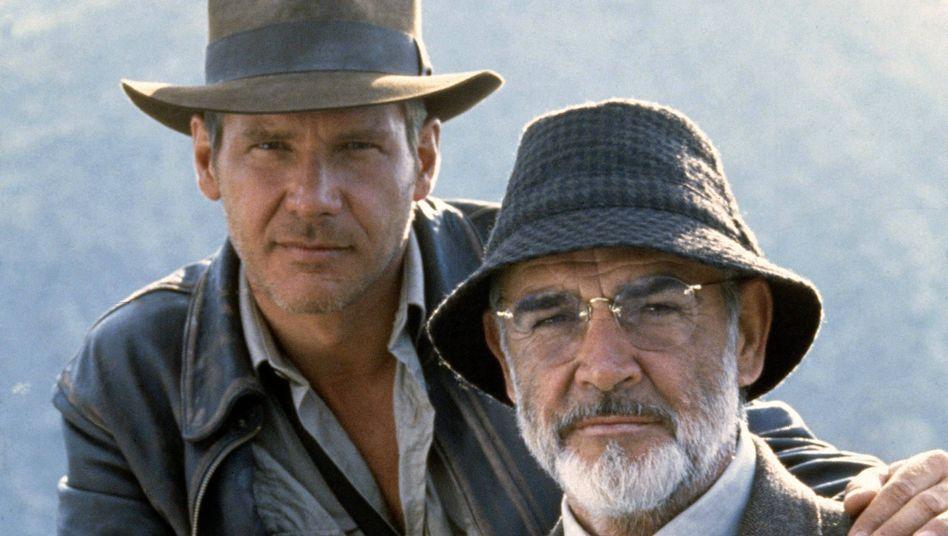 "Harrison Ford und Sean Connery in ""Indiana Jones"""