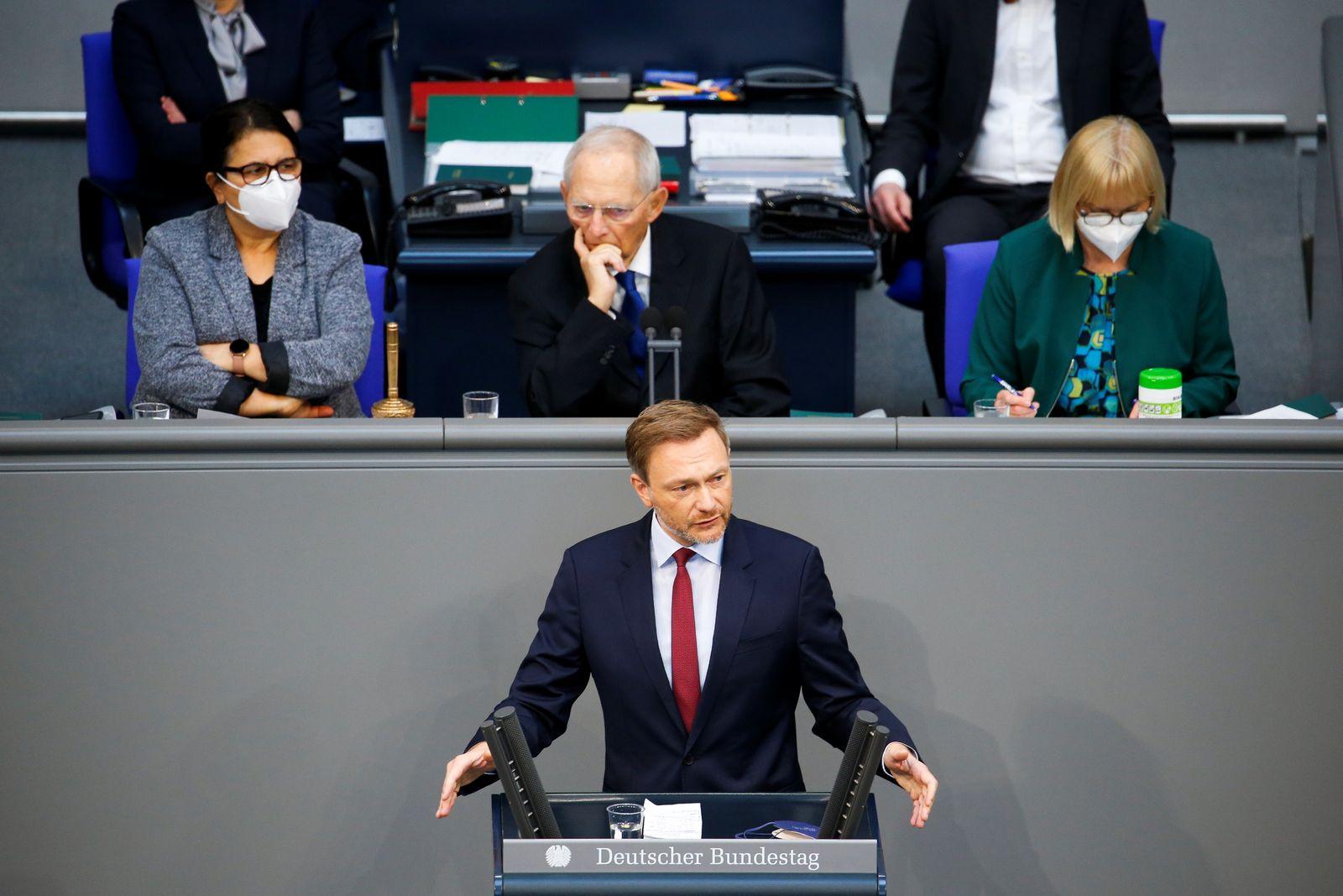 Session of the German Bundestag in Berlin