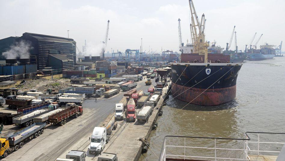Hafen in Lagos, Nigeria
