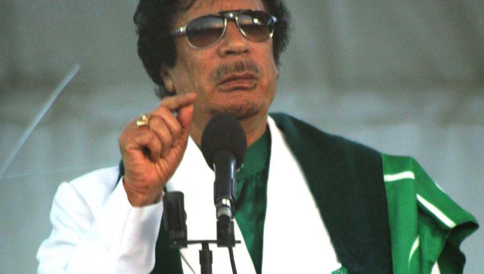 Libyens Staatschef Gaddafi: Mit aller Gewalt gegen die Demonstranten