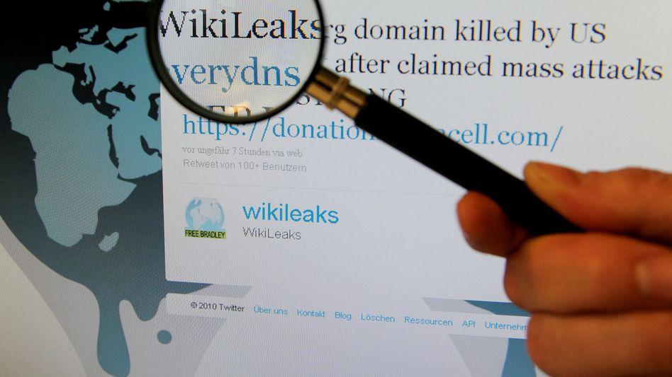 WikiLeaks-Twitter-Eintrag: Adressen der Enthüllungsplattform gelöscht