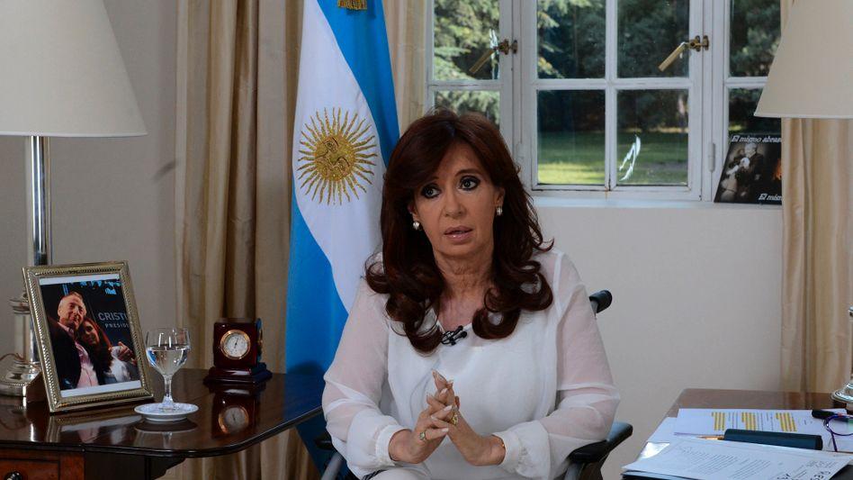 Fernsehrede: Staatschefin Kirchner will Argentiniens Geheimdienst reformieren