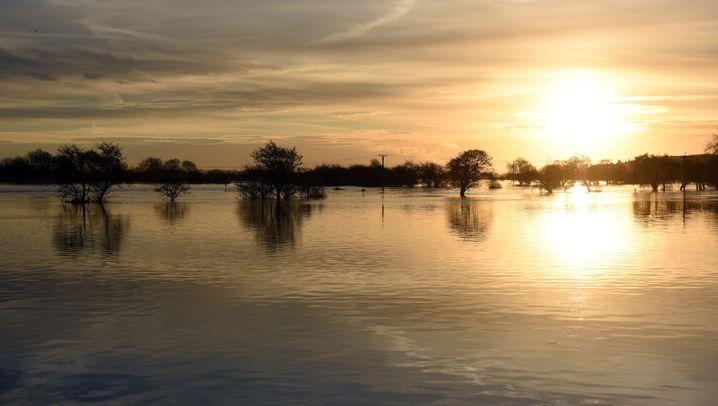 Land unter: Überschwemmungen in Nordengland