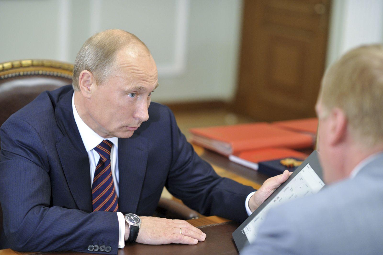 Putin mit Tablet/ iPad